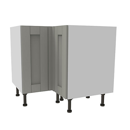 Image for Simply Hygena Southfield Grey High Line Corner Base Unit - 935mm from StoreName