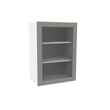 Image for Simply Hygena Southfield Grey Glass Wall Cabinet - 500mm from StoreName