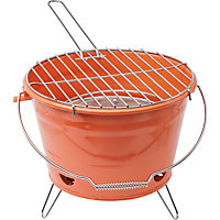 Portable Bucket Charcoal BBQ - Orange