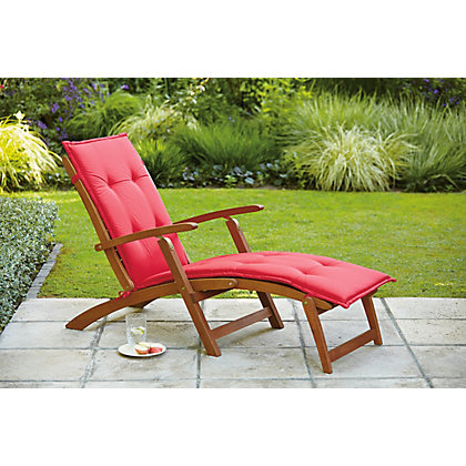 Image for Sun Lounger Cushion - Raspberry from StoreName
