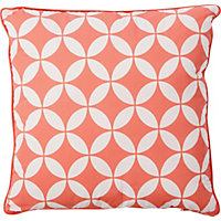 Global Paradise Garden Scatter Cushion - Coral