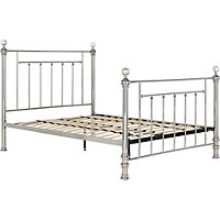 Schreiber Bourton Chrome and Crystal Single Bed