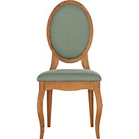 Schreiber Castleton Oak Pair of Duck Egg Dining Chairs