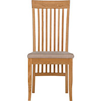 Schreiber Pentridge Oak Pair of Slatted Dining Chairs