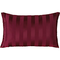 Cranberry Striped Cushion