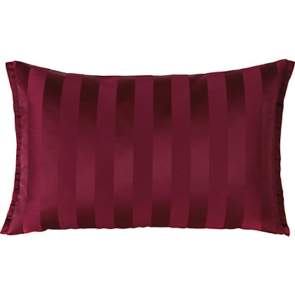 Image for Cranberry Striped Cushion from StoreName