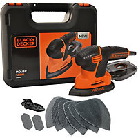 Black and Decker 120W Mouse Detail Sander With Kitbox