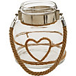 Rope Heart Glass Lantern