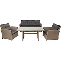 Ravello Rattan Effect Garden Furniture Set