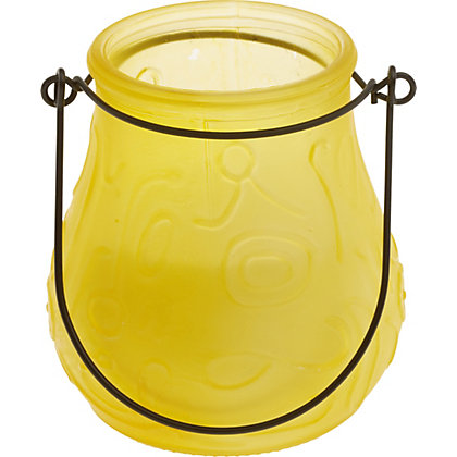 Image for Glass Frosted Candle - Yellow from StoreName
