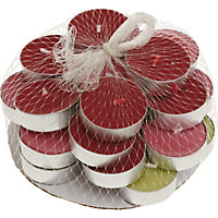 Country Retreat Red and Green Tea lights - 25 Pack