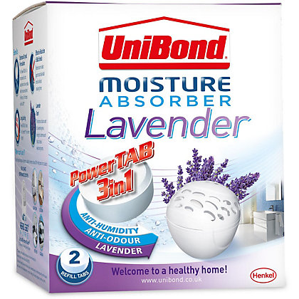 Image for UniBond Bubble Fresh Moisture Absorber Scented Refills Lavender from StoreName
