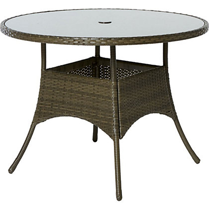 Image for Mali Round 4 Seater Rattan Effect Table from StoreName