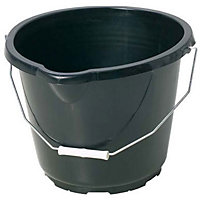 General Purpose Black Plastic Bucket - 14L