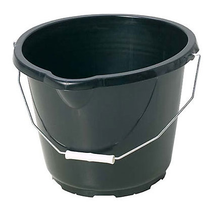 Image for General Purpose Black Plastic Bucket - 14L from StoreName