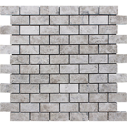 Image for Natural Stone Tile Mosaic Brick - Silver Shadow - 305 x 457mm  - 4 pack from StoreName