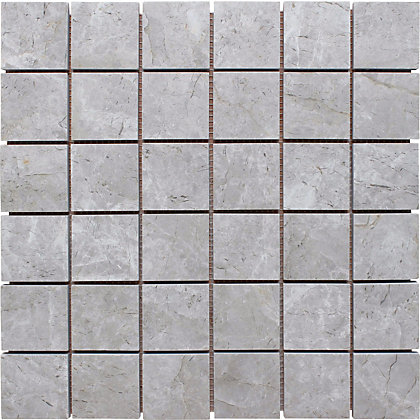 Image for Natural Stone Tile Mosaic Square - Silver Shadow - 305 x 305mm  - 4 pack from StoreName