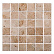 Natural Stone Tile Mosaic Square - Cappuccino - 305 x 305 mm  - 4 pack