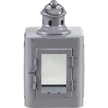 Image for Grey Skandi Style Lantern from StoreName