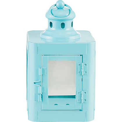 Image for Blue Skandi Style Lantern from StoreName