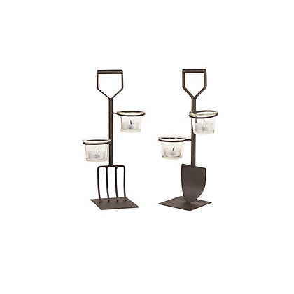 Image for Fork and Spade Tea Light Holder Set from StoreName