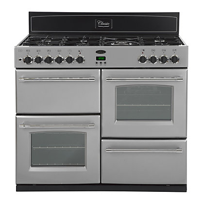 Image for Belling Classic 100DFT Dual Fuel Range Cooker - Silver from StoreName