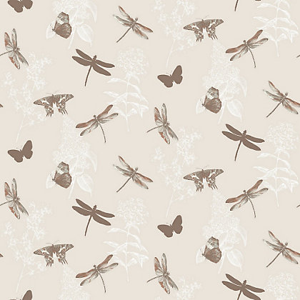 Image for Enchanted Wings Copper Wallpaper from StoreName