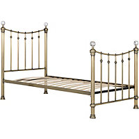Schreiber Oborne Brass and Crystal Metal Single Bed