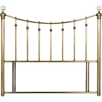 Schreiber Oborne Brass and Crystal Metal Double Headboard