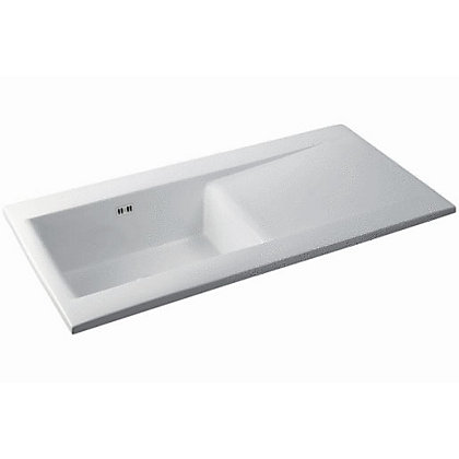 Image for Carron Phoenix Sapphira 150 White Ceramic Kitchen Sink - 1 Bowl from StoreName