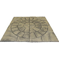 Brett Walton Paving Circle with Corners 2.17m 4.71sq m 48 Pack - Mink