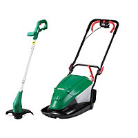 Qualcast 1600W Hover Lawn Mower and 350W Grass Trimmer