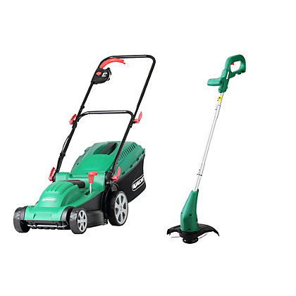 Image for Qualcast 1500W Rotary Lawn Mower and 350W Grass Trimmer from StoreName