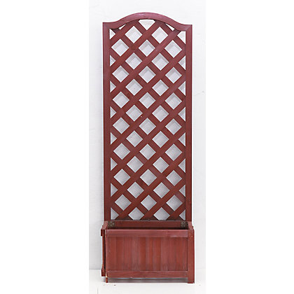 Image for Country Lattice Wooden Planter - Raspberry from StoreName