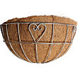 Charlotte Heart Metal Wall Basket with Coco Liner