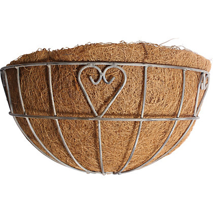 Image for Charlotte Heart Metal Wall Basket with Coco Liner from StoreName