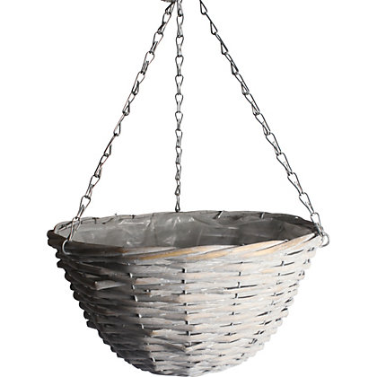 Image for Rustic Retreat Hanging Basket - Grey from StoreName