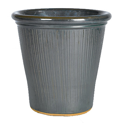 Image for Hatherley Glazed Ceramic Plant Pot - 36cm (2 Colours Available) from StoreName