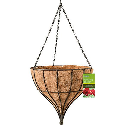 Image for Tear Drop Metal Hanging Basket from StoreName