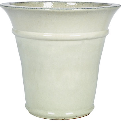 Image for Rectory Glazed Ceramic Planter - Cream from StoreName