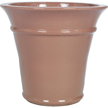 Image for Rectory Glazed Ceramic Planter - Pink from StoreName