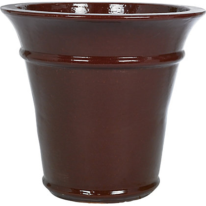 Image for Rectory Glazed Ceramic Planter - Raspberry from StoreName