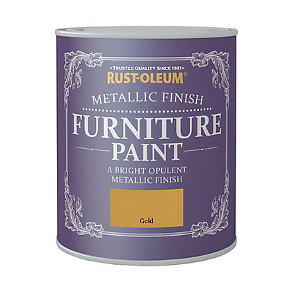 Image for Rust-Oleum Metallic Furniture Paint Gold 125ml from StoreName