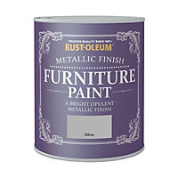 Rust-Oleum Metallic Furniture Paint Silver 125ml