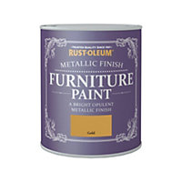 Rust-Oleum Metallic Furniture Paint Gold 750ml