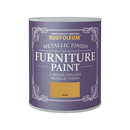 Image for Rust-Oleum Metallic Furniture Paint Gold 750ml from StoreName