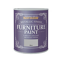 Rust-Oleum Metallic Furniture Paint Silver 750ml
