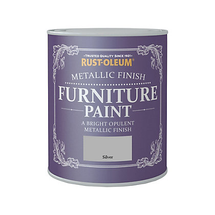 Image for Rust-Oleum Metallic Furniture Paint Silver 750ml from StoreName