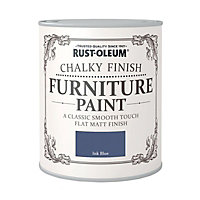 Rust-Oleum Chalky Furniture Paint Ink Blue 125ml