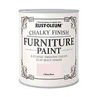 Rust-Oleum Chalky Furniture Paint China Rose 125ml